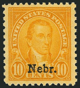 Sale Number 1116, Lot Number 3393, 1922 and Later Issues10c Nebr. Ovpt. (679), 10c Nebr. Ovpt. (679)
