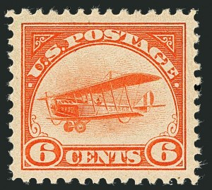 Sale Number 1116, Lot Number 3408, Air Post incl. Specialized Air Post Special Delivery 6c Orange, 1918 Air Post (C1), 6c Orange, 1918 Air Post (C1)