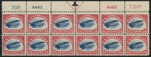 Sale Number 1116, Lot Number 3410, Air Post incl. Specialized Air Post Special Delivery 24c Carmine Rose & Blue, 1918 Air Post (C3), 24c Carmine Rose & Blue, 1918 Air Post (C3)