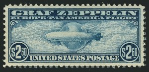 Sale Number 1116, Lot Number 3414, Air Post incl. Specialized Air Post Special Delivery 65c-$2.60 Graf Zeppelin (C13-C15), 65c-$2.60 Graf Zeppelin (C13-C15)