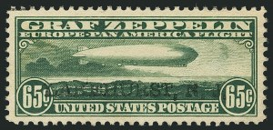 Sale Number 1116, Lot Number 3415, Air Post incl. Specialized Air Post Special Delivery 65c Graf Zeppelin (C13), 65c Graf Zeppelin (C13)