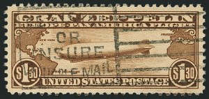 Sale Number 1116, Lot Number 3416, Air Post incl. Specialized Air Post Special Delivery $1.30 Graf Zeppelin (C14), $1.30 Graf Zeppelin (C14)