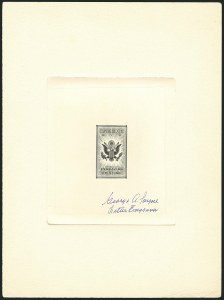 Sale Number 1116, Lot Number 3421, Air Post incl. Specialized Air Post Special Delivery Great Seal Experimental Die Proof, Vignette of the Air Post Special Delivery Issue, Great Seal Experimental Die Proof, Vignette of the Air Post Special Delivery Issue