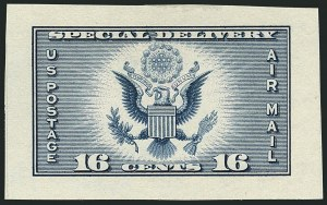 Sale Number 1116, Lot Number 3423, Air Post incl. Specialized Air Post Special Delivery 16c Dark Blue, Air Post Special Delivery, Small Die Proof on Wove (CE1P2), 16c Dark Blue, Air Post Special Delivery, Small Die Proof on Wove (CE1P2)