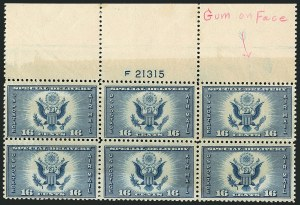 Sale Number 1116, Lot Number 3426, Air Post incl. Specialized Air Post Special Delivery 16c Dark Blue, Air Post Special Delivery (CE1 var), 16c Dark Blue, Air Post Special Delivery (CE1 var)