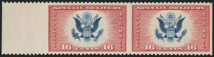 Sale Number 1116, Lot Number 3427, Air Post incl. Specialized Air Post Special Delivery 16c Red & Blue, Air Post Special Delivery, Horizontal Pair, Imperforate Vertically (CE2a), 16c Red & Blue, Air Post Special Delivery, Horizontal Pair, Imperforate Vertically (CE2a)