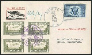 Sale Number 1116, Lot Number 3429, Air Post incl. Specialized Air Post Special Delivery First American Rocket Airplane Flight, Feb. 23, 1936, First American Rocket Airplane Flight, Feb. 23, 1936