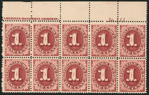 Sale Number 1116, Lot Number 3439, Special Delivery thru Offices in China1c Bright Claret (J22), 1c Bright Claret (J22)