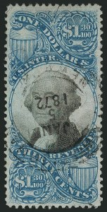 Sale Number 1116, Lot Number 3487, Revenues$1.30 Blue & Black, Second Issue (R119), $1.30 Blue & Black, Second Issue (R119)
