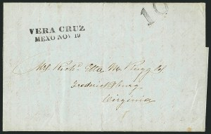 Sale Number 1117, Lot Number 4045, Vera Cruz CoversVERA CRUZ/MEXO. NOV. 19, VERA CRUZ/MEXO. NOV. 19
