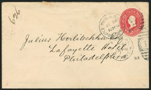 Sale Number 1117, Lot Number 4053, Ocean and Waterway Mail, Expositions1899 National Export Exposition, Philadelphia (Bomar P99-01), 1899 National Export Exposition, Philadelphia (Bomar P99-01)