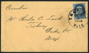 Sale Number 1117, Lot Number 4078, 1857-60 Issue1c Blue, Ty. Ia (19), 1c Blue, Ty. Ia (19)