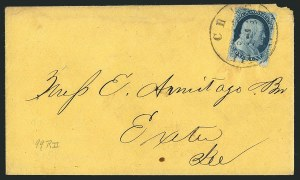 Sale Number 1117, Lot Number 4079, 1857-60 Issue1c Blue, Ty. III, Position 99R2 (21 var), 1c Blue, Ty. III, Position 99R2 (21 var)