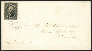 Sale Number 1117, Lot Number 4091, 1857-60 Issue12c Black, Plate 1 (36), 12c Black, Plate 1 (36)