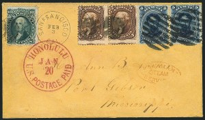 Sale Number 1117, Lot Number 4099, 1861-68 Issue5c Brown, 10c Green (68, 76), 5c Brown, 10c Green (68, 76)