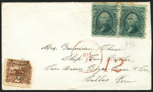 Sale Number 1117, Lot Number 4114, 1869 Pictorial Issue2c Brown (113), 2c Brown (113)