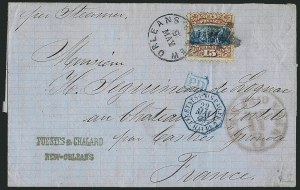 Sale Number 1117, Lot Number 4129, 1869 Pictorial Issue15c Brown & Blue, Ty. I (118), 15c Brown & Blue, Ty. I (118)