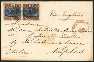 Sale Number 1117, Lot Number 4132, 1869 Pictorial Issue15c Brown & Blue, Ty. II (119), 15c Brown & Blue, Ty. II (119)