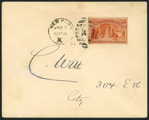 Sale Number 1117, Lot Number 4154, 1890-1902 Issues$1.00 Columbian (241), $1.00 Columbian (241)