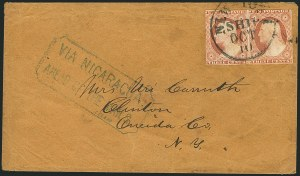 Sale Number 1117, Lot Number 4396, Western Mails and Expresses3c Dull Red, Ty. II (11A), 3c Dull Red, Ty. II (11A)