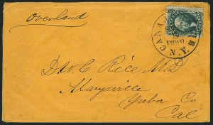 Sale Number 1117, Lot Number 4399, Western Mails and Expresses10c Green, Ty. V (35), 10c Green, Ty. V (35)