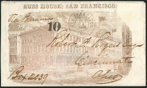 Sale Number 1117, Lot Number 4401, Western Mails and ExpressesSan Francisco Cal. Oct. 1, 1862, San Francisco Cal. Oct. 1, 1862
