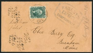Sale Number 1117, Lot Number 4407, Western Mails and Expresses10c Green, Ty. I (31), 10c Green, Ty. I (31)