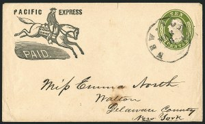 Sale Number 1117, Lot Number 4414, Western Mails and ExpressesPacific Express Paid, Pacific Express Paid