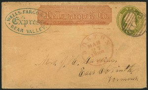 Sale Number 1117, Lot Number 4419, Western Mails and ExpressesWells, Fargo & Co. Express, Bear Valley, Wells, Fargo & Co. Express, Bear Valley