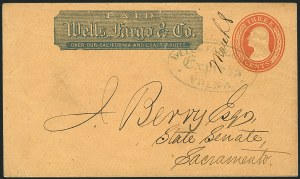Sale Number 1117, Lot Number 4422, Western Mails and ExpressesWells, Fargo & Co. Express, Yreka, Wells, Fargo & Co. Express, Yreka