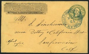 Sale Number 1117, Lot Number 4423, Western Mails and ExpressesWells, Fargo & Co, Wells, Fargo & Co