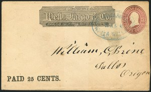 Sale Number 1117, Lot Number 4424, Western Mails and ExpressesWells, Fargo & Co., Walla Walla, Wells, Fargo & Co., Walla Walla