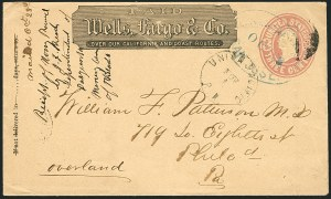 Sale Number 1117, Lot Number 4426, Western Mails and ExpressesWells, Fargo & Co., San Jose, Oct. 28, Wells, Fargo & Co., San Jose, Oct. 28