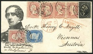 Sale Number 1117, Lot Number 4452, Civil War Postal History: Angell Cover and Magnus Designs12c Black, Plate 3 (36B), 12c Black, Plate 3 (36B)