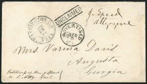 Sale Number 1117, Lot Number 4474, Confederate States: Jefferson Davis, Robert E. Lee, othersJefferson Davis as Prisoner of War to his Wife, Jefferson Davis as Prisoner of War to his Wife