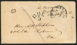 Sale Number 1117, Lot Number 4479, Confederate States: Jefferson Davis, Robert E. Lee, othersRobert Toombs, Robert Toombs