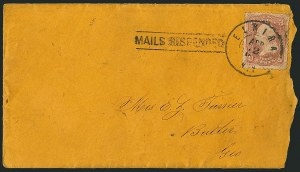 Sale Number 1117, Lot Number 4561, Confederate States: Imprints, POW, Flag-of-Truce, Telegrams3c Rose (65), 3c Rose (65)