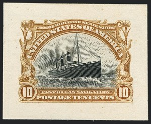 Sale Number 1118, Lot Number 175, 1901 Pan-American Issue Essays and Proofs1c-10c Pan-American, Small Die Proofs on Wove (294P2-299P2), 1c-10c Pan-American, Small Die Proofs on Wove (294P2-299P2)