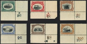 Sale Number 1118, Lot Number 180, 1901 Pan-American Issue Stamps1c-10c Pan-American (294-299), 1c-10c Pan-American (294-299)