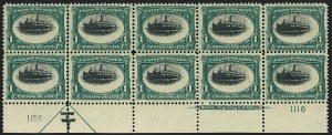 Sale Number 1118, Lot Number 182, 1901 Pan-American Issue Stamps1c Pan-American (294), 1c Pan-American (294)