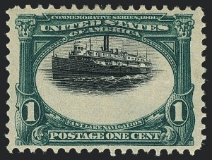 Sale Number 1118, Lot Number 184, 1901 Pan-American Issue Stamps1c Pan-American (294), 1c Pan-American (294)