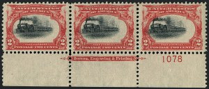 Sale Number 1118, Lot Number 193, 1901 Pan-American Issue Stamps2c Pan-American (295), 2c Pan-American (295)