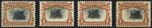 Sale Number 1118, Lot Number 195, 1901 Pan-American Issue Stamps4c Pan-American (296), 4c Pan-American (296)