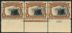 Sale Number 1118, Lot Number 196, 1901 Pan-American Issue Stamps4c Pan-American (296), 4c Pan-American (296)