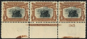Sale Number 1118, Lot Number 197, 1901 Pan-American Issue Stamps4c Pan-American (296), 4c Pan-American (296)