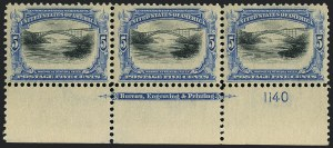 Sale Number 1118, Lot Number 200, 1901 Pan-American Issue Stamps5c Pan-American (297), 5c Pan-American (297)