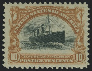 Sale Number 1118, Lot Number 204, 1901 Pan-American Issue Stamps10c Pan-American (299), 10c Pan-American (299)