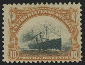 Sale Number 1118, Lot Number 205, 1901 Pan-American Issue Stamps10c Pan-American (299), 10c Pan-American (299)