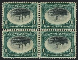 Sale Number 1118, Lot Number 206, 1901 Pan-American Issue Inverts1c Pan-American, Center Inverted (294a), 1c Pan-American, Center Inverted (294a)
