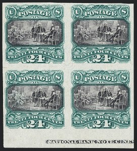 Sale Number 1118, Lot Number 22, 24c 1869 Pictorial Essays and Proofs24c Green & Violet, Plate Proof on India (120P3), 24c Green & Violet, Plate Proof on India (120P3)